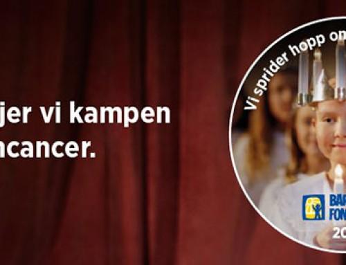 Vi stödjer kampen mot barncancer